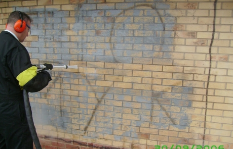 Ice Blaster Graffiti Cleaning 009